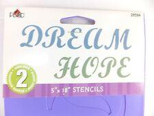 Dream Hope Stencils 5x18 Words Sayings Phrase #28594 Plaid