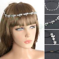 Fascia elastica Flower strass accessori capelli elastico cerchietto acconciatura