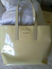 Gorgeous Dolce & Gabanna Patent Leather Extra Large Tote Handbag Cream