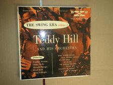 "33RPM 10"" X Teddy Hill, R Procope, D Wells, Gillespie. Swing Era Vol.1 sharp EE-"