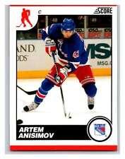 (HCW) 2010-11 Score Glossy #327 Artem Anisimov NY Rangers Mint