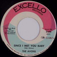 """THE AVONS: Since I Met You Baby EXCELLO Northern Soul 7"""" 45 NM- MP3"""