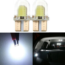 2 x White T10 194 168 W5W COB 8 SMD LED Bulbs License Interior Wedge Side Light
