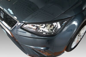 For SEAT IBIZA MK5 2017-2020 EYEBROWS HEADLIGHT COVER ABS PLASTIC