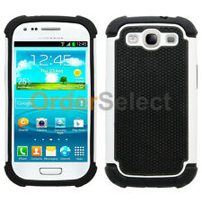 NEW Hybrid Rubber Hard Case Skin for Android Phone Samsung Galaxy S3 White HOT!