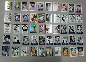 Lot (50) Different Mickey Mantle New York Yankees Baseball Cards w/Inserts HOF