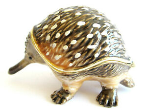 Echidna Diamanti Decorated Jewelled Trinket Box or Figurine Approx 4.5cm High