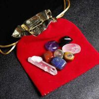 Natural 8 Quartz Crystal Healing Tumbled Stones Set Balance Kit ho Chakra t D4C2