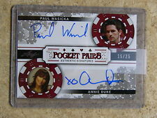 2011 Leaf Razor Poker PAUL WASICKA / ANNIE DUKE Pocket Pairs Black /25