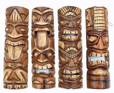 4 Tiki Masken 50cm zum Aufhängen Tiki Wandmasken Hawaii Maui Maske Wandmaske