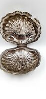 Vintage Leonard Silverplated Shell Butter Dish Not Glass  Unpolished
