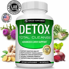 Liver Cleanse Detox & Repair Formula +22 Herbs Support 5 Day Fast-Acting DETOX