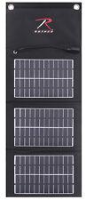 Tactical MOLLE Solar Panel With 5000 MAH Power Bank Black Modular Rothco 2117