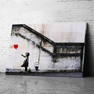 Banksy Balloon Girl Banksy Canvas Wall Art Prints Framed Large Pictures