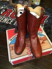 Justin Ladies  Roper Redwood Vitello 8.5 B L3510