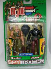GI Joe 2003 Cobra vs Spy Troops Grunt vs Destro MOC