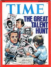Time Magazine December 20 1976 The Great Talent Hunt EX 083016jhe