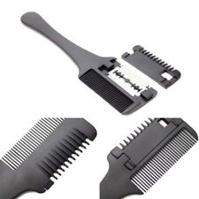Hair Cutting Thinning Double Sides Hair Razor Comb DIY Trimmer with Blades
