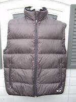 Vintage Oakley Puffer Vest Goose Down Brown Men's Size Large L Warm Winter Snow
