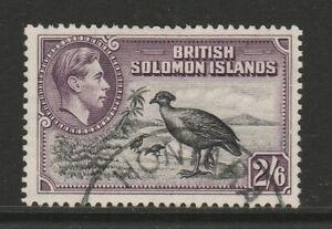 British Solomon Is.1939-51 2/6d Black & violet SG 70 Fine used.