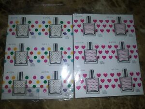 Avon Be Romantic and Be Fun Sample sheets. 12 samples of each scent.