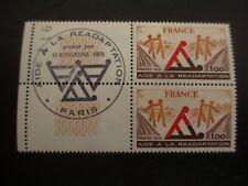 BLOC 2 timbres - YT 2023 - 1er jour - FRANCE - neufs** - Aide réadaptation 1978