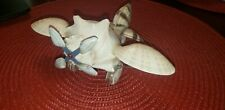 Vintage Folk Art Airplane Hand Crafted from Seashells