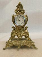 Vintage Brass Tone Kaiser Germany Mantle Clock Ornate Hollywood Regency Repair