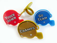 Football Helmet Cupcake Rings Cake Toppers Decorations Party Favors Supplies 24