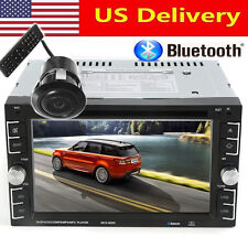 "Double 2Din 6.2"" Car Stereo DVD CD MP3 Player HD In Dash Ipod TV Radio + Camera"