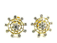Diamonds: 1.17ct. Colour: F-G Clarity: Vvs2-Vs1 Stud Earrings Y. Gold 18k.