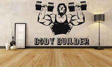 Wall Decor Vinyl Sticker Mural Decal Bodybuilding Gym Crossfit Workout FI1178