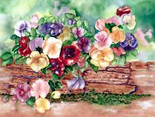 Whimsy Wood Jigsaw Puzzle- Pansies in Springtime-450 pcs