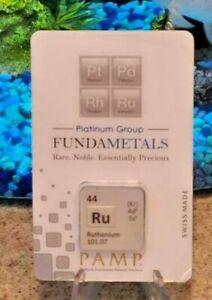 Swiss Made PAMP FUNDAMETALS 1/2 oz. (15.55 g) 999.0 Ruthenium Bar Only 500 Made