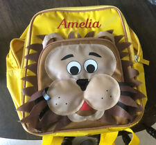 """Toddler/Pre-K Lion yello backpack """"Amelia"""" embroidered personalized"""