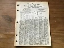The American Loose Leaf Dictionary (1962)