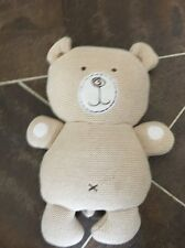 NATURES PUREST HUG ME KNITTED CREAM BEAR CHIMING HUG COMFORTER TOY SOOTHER