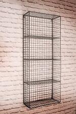 Retro Vintage Industrial Style Metal Wire Wall Shelf Storage Shelving Unit Rack