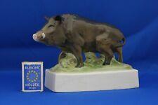 Fraureuth Keiler Hans Harders Porzellanfigur Wild Boar Wildschwein Eber Figur
