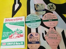 Silverstone tickets and press passes