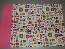 Pink John Deere with Flowers and Trees Standard Pillowcase