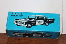 VINTAGE WIND UP MERCEDES BENZ POLICE CAR   ORIGINAL BOX