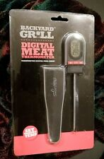 Backyard Grill Digital Meat Thermometer BBQ pocket clip backlit LCD