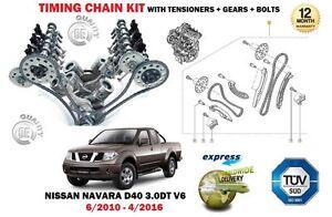 FOR NISSAN NAVARA D40 3.0 DCI V6 2010-2016 TIMING CHAIN TENSIONER KIT + GEARS