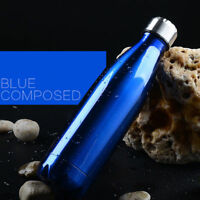 350-500ML Stainless Steel Double Wall Vacuum Insulated Bottle Water Flask Sport
