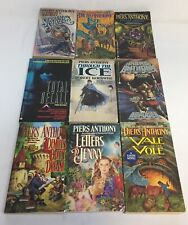 lot of nine PIERS ANTHONY books ~ Isle Of View,Phaze Doubt,Through The Ice, more