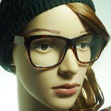 NERD Oversized Square Unisex Frame Fashion Clear Lens Eye Glasses TORTOISE NEW
