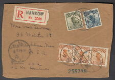 4748 - China 1913 Registered Cover Front Hankow To Usa