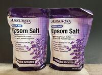 Epsom Salts Lavender Calming Relaxing Soak 16 oz 2 pack Assured