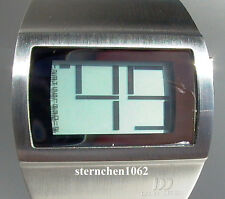 Danish Design Herren Digitaluhr Edelstahl 3314211 Quarz Mineralglas